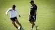 Lucas Lima, durante treino do Santos no CT Rei Pelé