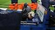 Valdés, após a lesão em março: começo de um pesadelo para o goleiro
