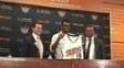 Leandrinho foi apresentado oficialmente em seu retorno aos Suns