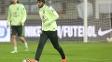 Neymar durante treino da seleção brasileira em Viena