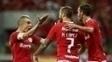 Nico López (7) comemora gol marcado contra o São Paulo com D'Alessandro
