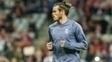Bale aquece antes de jogo contra o Bayern de Munique