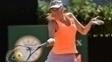 Sharapova em ação no Premier de Roma