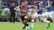 Atacante Morato em sua estreia pelo São Paulo, contra o Cruzeiro, no Mineirão