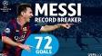 Uefa fez homenagem a Messi pelo feito