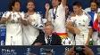 Após título, jogadores do Real invadem coletiva de Ancelotti