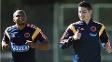 Zuñiga corre ao lado de James Rodriguez; na sexta, lateral terá pela frente Neymar