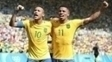 Neymar Gabriel Jesus Comemoram Gol Brasil Honduras Futebol Olimpíada 17/08/2016
