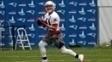 Julian Edelman durante os treinamentos do New England Patriots
