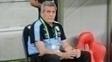 Óscar Tabárez durante partida entre Brasil x Uruguai pelas Eliminatórias