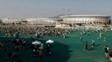 Área comum do Parque Olímpico da Barra é fechada ao público por causa dos fortes ventos