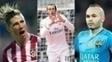 Time de Iniesta (a dir.) tem três pontos de vantagem sobre o Atlético e quatro sobre Real