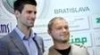Novak Djokovic e Marian Vajda durante evento em 2012: fim da parceria
