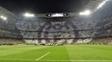 Santiago Bernabéu, no jogo entre Real Madrid e Napoli