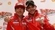 Nick Hayden e Valentino Rossi em 2011