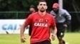 Diego Souza voltou aos treinos do Sport nesta quarta-feira
