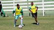 Bruno Aguiar durante treino do Goiás