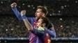 Neymar e Messi comemoram virada histórica sobre o PSG na Champions League
