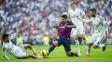 Suárez marcado por três jogadores do Real