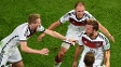 Jogadores da Alemanha comemoram o gol na final da Copa do Mundo