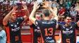 Jogadores de Canoas e Taubaté usaram nariz de palhaço em protesto na Superliga