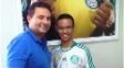 Alexandre Mattos, em encontro com sócio-torcedor do Palmeiras