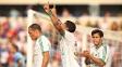 Leandro comemora gol do Palmeiras sobre o Paraná