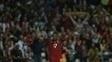 Nani comemora um de seus gols contra Gibraltar