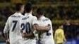 Jogadores do Real Madrid comemoram gol do Asensio contra o Las Palmas