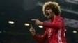 Fellaini comemora gol após abrir o placar para o United