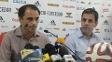 Rodrigo Caetano e Alexandre Wrobel concederam entrevistas no Ninho do Urubu