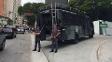 Ônibus da Tropa de Choque está em frente ao Allianz Parque