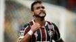 Dourado comemora o primeiro gol do Fluminense contra o Liverpool-URU, no Maracanã