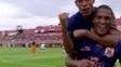 Adriano comemora gol do Nova Iguaçu