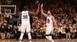 Durant e Curry tiveram boas atuações neste domingo