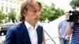 Luka Modric no caminho de audiência em Zagreb