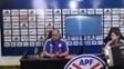 Arce durante coletiva de imprensa da seleção paraguaia