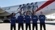 O Real Madrid ganhou o avião de seu patrocinador, a Emirates.
