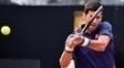 Novak Djokovic em ação no Masters 1000 de Roma