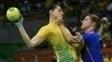 Duda Amorim durante jogo do Brasil contra a Holanda