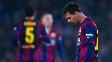 Messi, durante a derrota do Barcelona para a Real Sociedad, nesse domingo