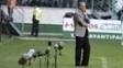 Tite à beira do gramado do Allianz Parque na derrota do Corinthians para o Palmeiras