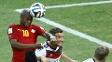 André Ayew marcou de cabeça contra a Alemanha: Gaa já cruzou 55 bolas na área