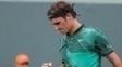 Roger Federer comemora vitória sobre Rafael Nadal na final do Masters de Miami