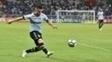 Ramiro, durante duelo entre Grêmio e Cruzeiro
