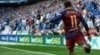 Neymar sofreu com atos racistas no clássico catalão