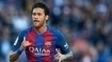 Neymar comemora gol contra o Villarreal