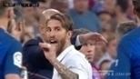 Após expulsão, Sergio Ramos gesticulou 'fala muito' para Gerard Piqué
