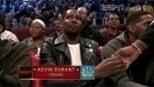 Locutor anuncia Kevin Durant como jogador do Thunder e deixa o astro constrangido