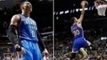 Westbrook faz triplo-duplo com 57 pontos em vitória do Thunder, e Warriors batem Spurs